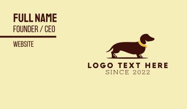 Dachschund Dog Business Card