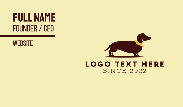 dog trainer - Dachschund Dog Business card horizontal design