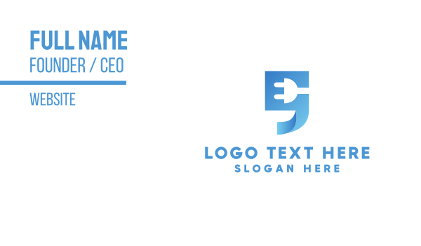 charger - Blue Quote  Business card horizontal design