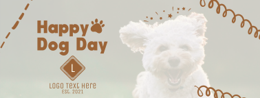 Happy Dog Day Facebook cover