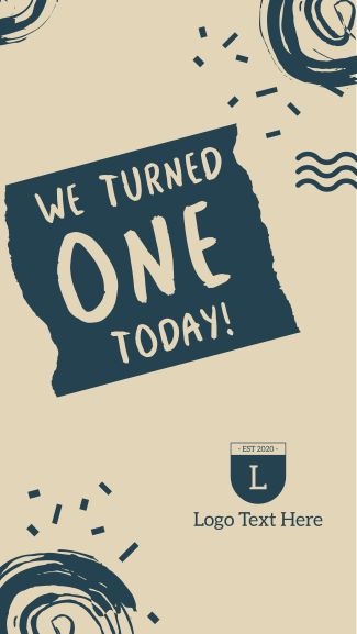 We Turned 1 Today Facebook story