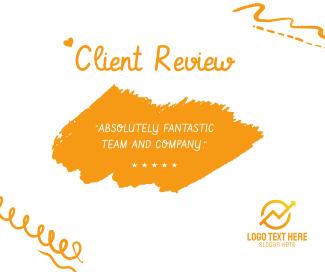 Client Review Facebook post