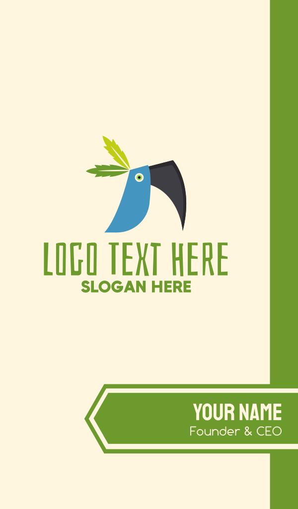Tropical Blue Toucan Bird Business Card