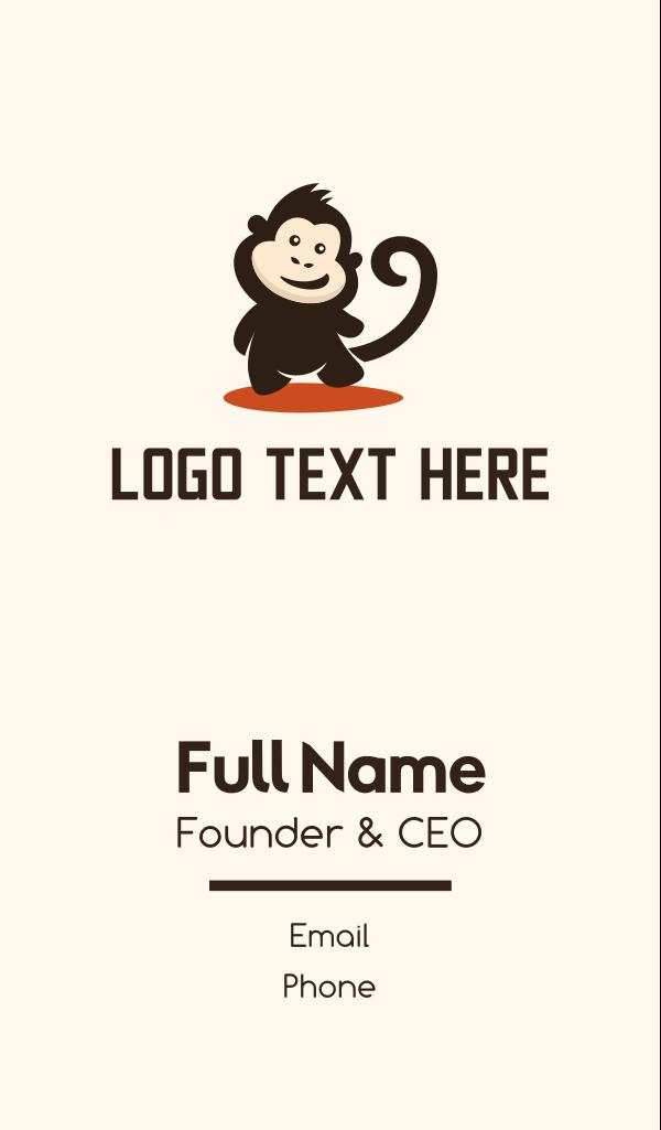 Happy Monkey Business Card
