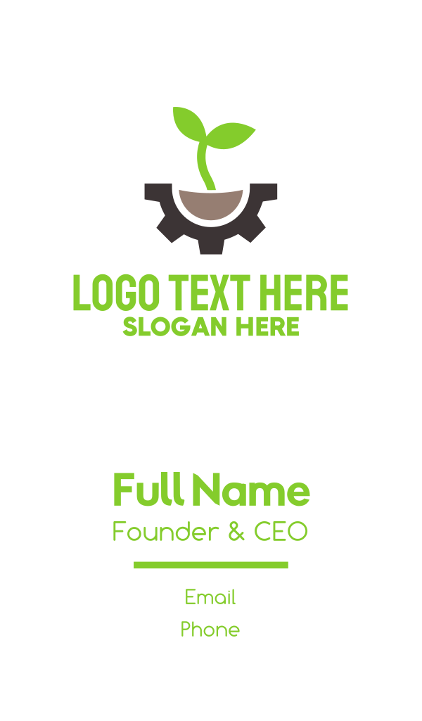 Green Engineering Business Card