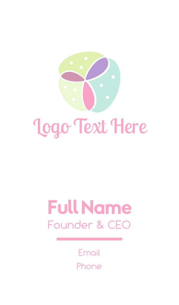 Pastel Feminine Flower Business Card