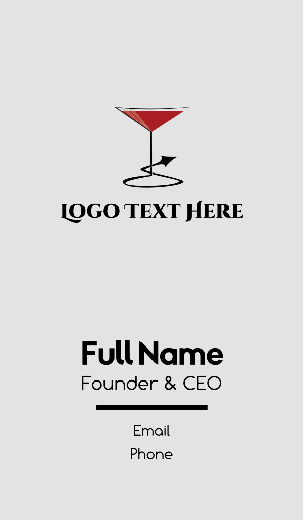 Naughty Cocktail Business Card