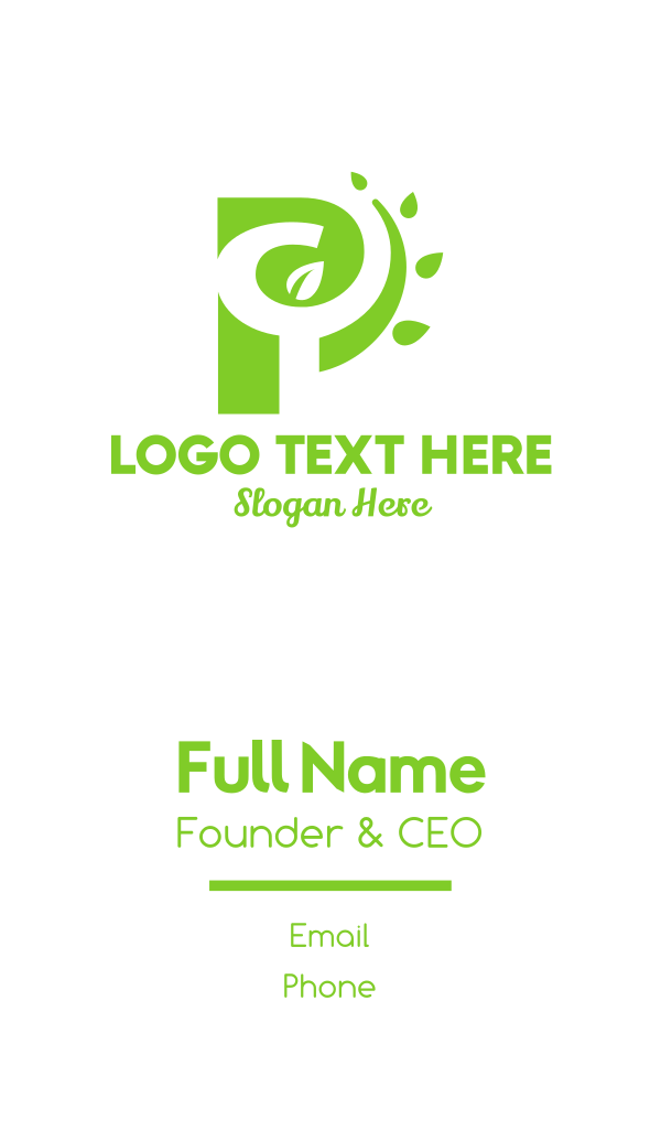 P Nature Business Card