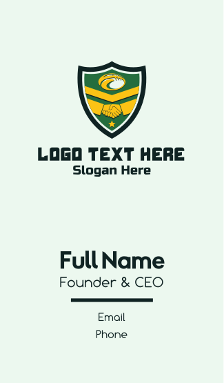 Rugby Friendship Shield Business Card