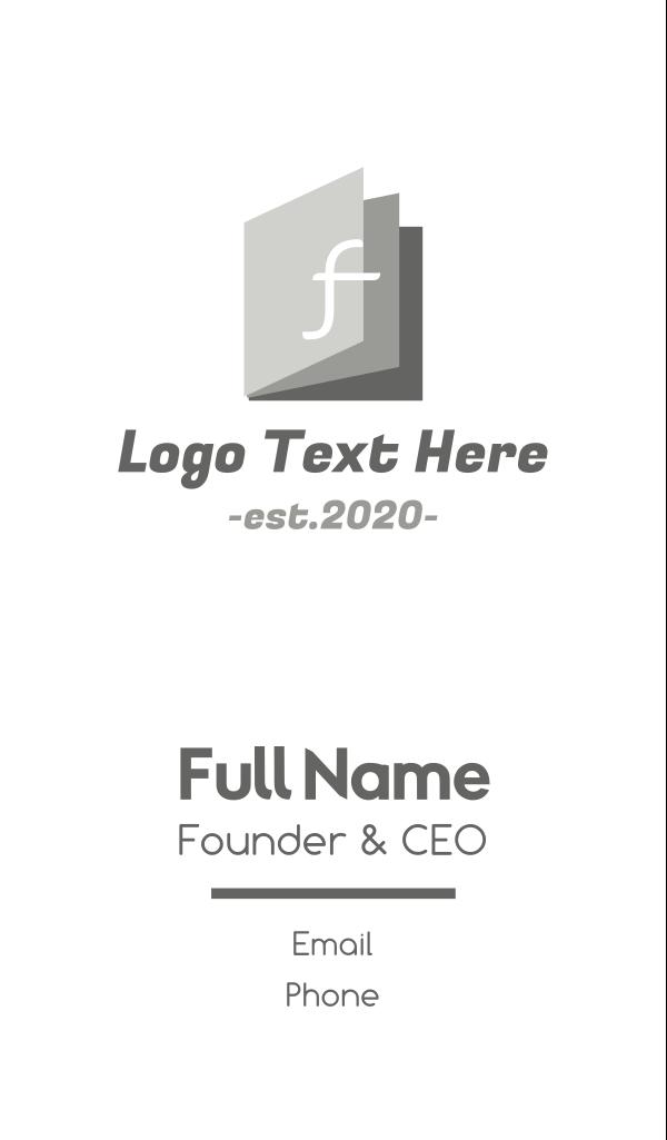 F Magazine Business Card