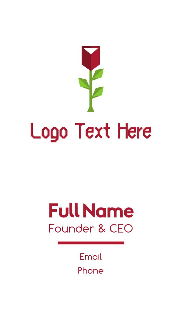Geometric Rose Business Card