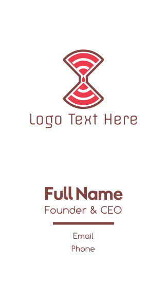 Red Wifi Business Card