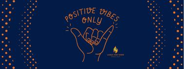 Positive Vibes Hand Sign Facebook cover
