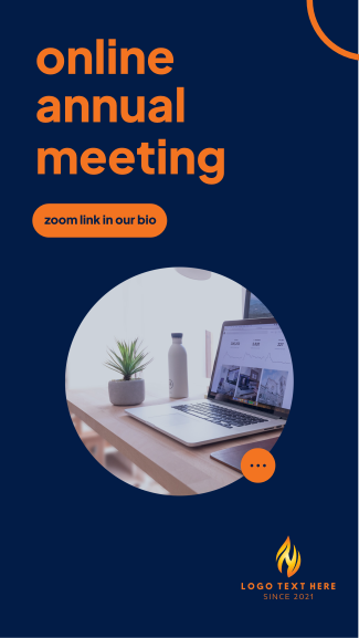 Online Annual Meeting Facebook story