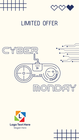 Cyber Monday Gaming Controller  Facebook story