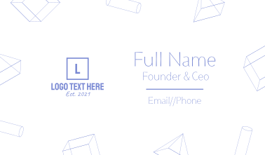 3D shapes Business Card