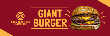 Double Cheese Burger Twitter header (cover)