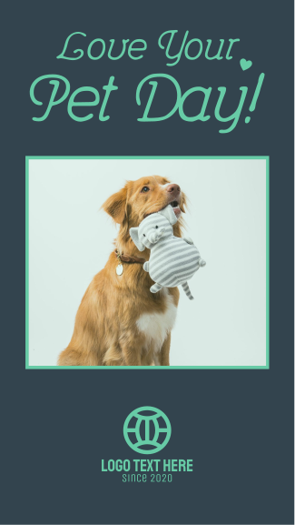 Love your Pet Day Facebook story
