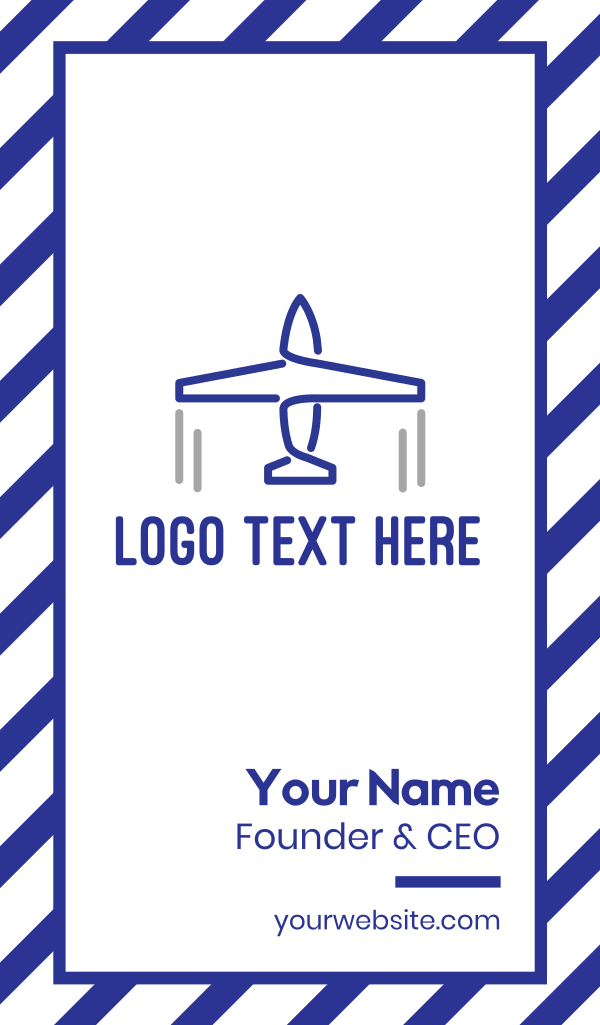 Blue Airplane Lines Business Card