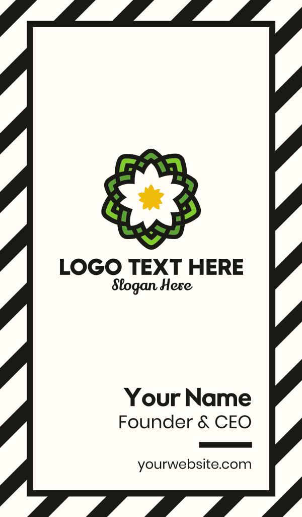 Pond Lotus Flower Business Card
