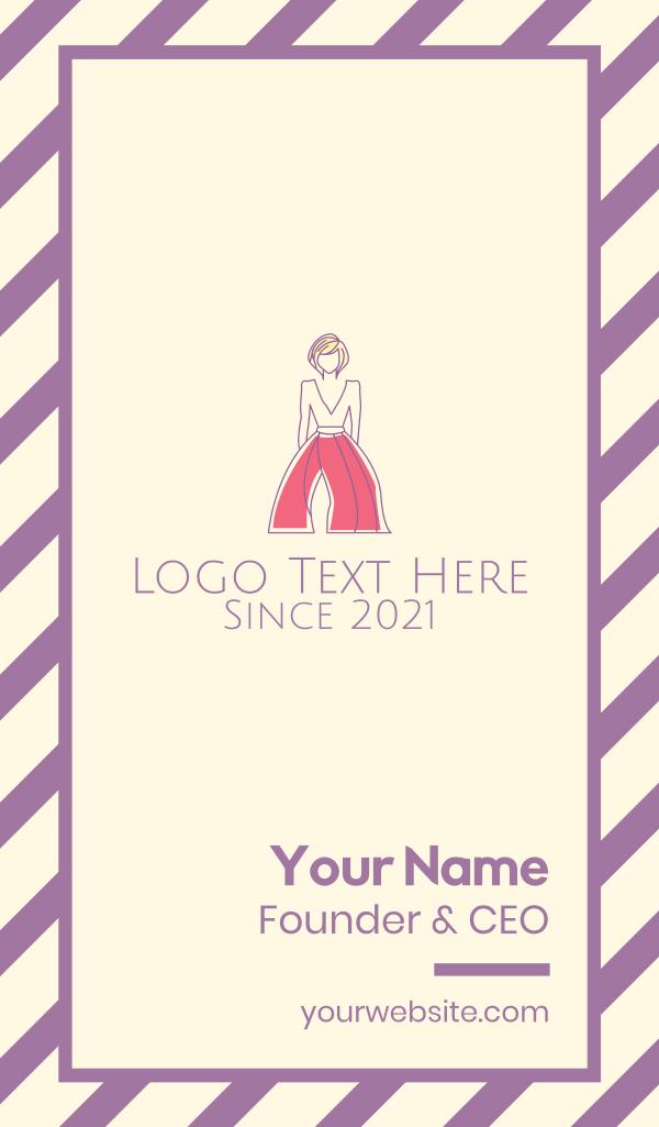 Minimalist Fashion Designer Business Card