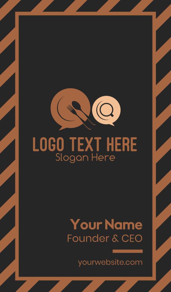 Dinner Messaging Business Card