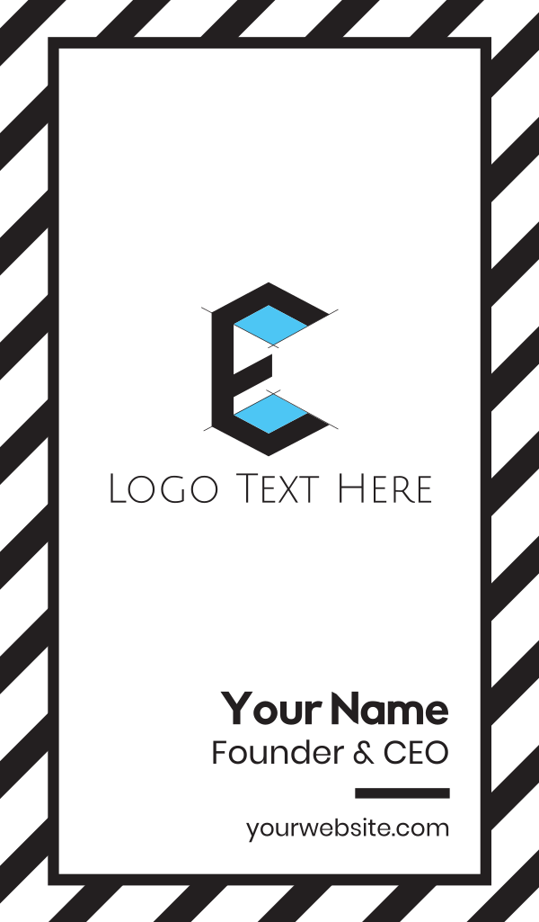 Architecture Drawing Letter E Business Card