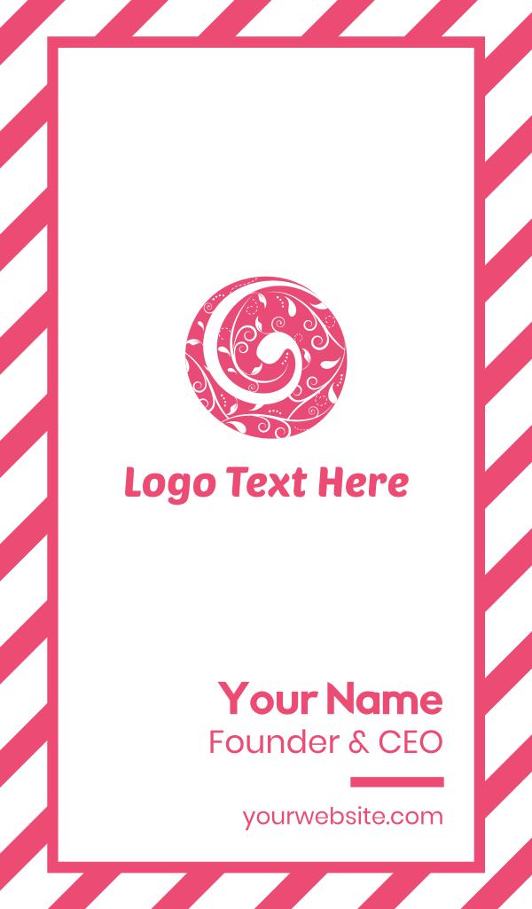 Pink Nature Circle Business Card