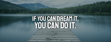 Lake Mountain Quote Facebook cover