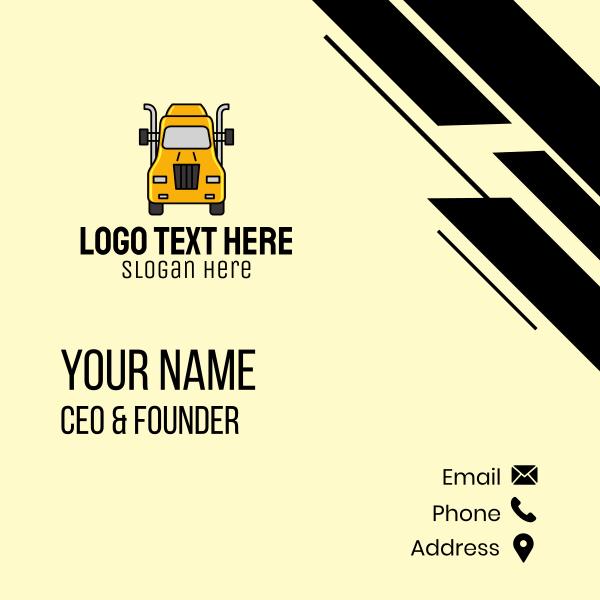 Yellow Truck Transport Business Card