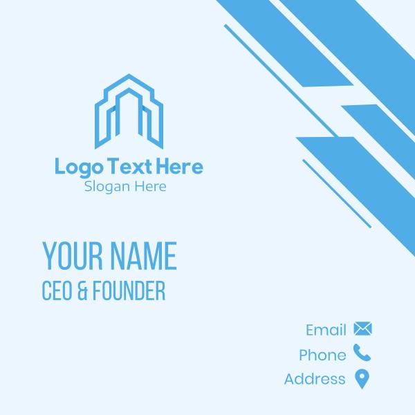 Blue House Builder Business Card