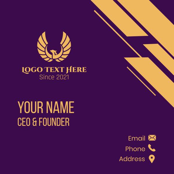 Golden Winged Phoenix Business Card