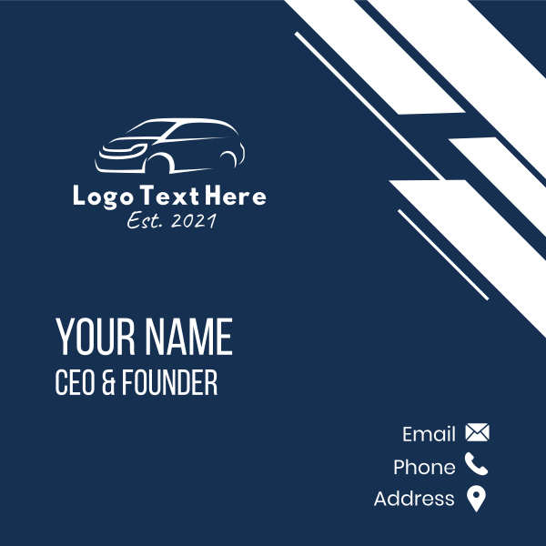 White Van Car Business Card