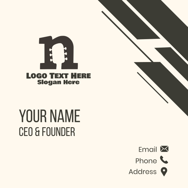 Headstock letter N Business Card