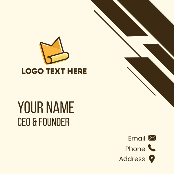 Document Letter M Business Card