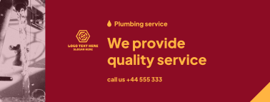Plumbing Service Provider Facebook cover
