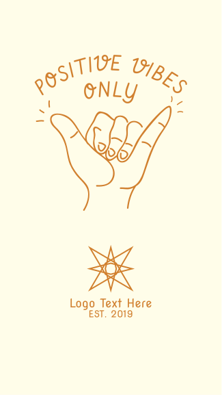 Positive Vibes Hand Sign Facebook story