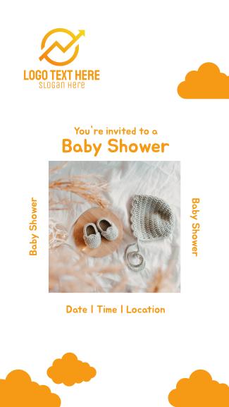 Baby Shower Invitation Facebook story