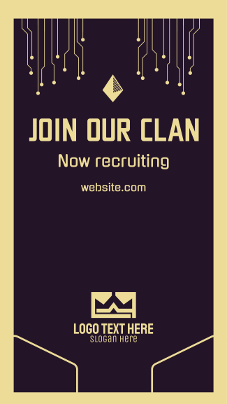Join Our Clan Facebook story