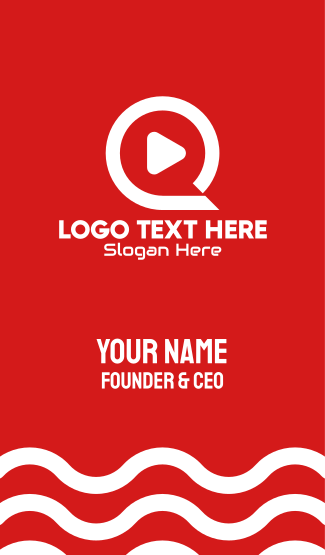 Media Player Letter Q Business Card