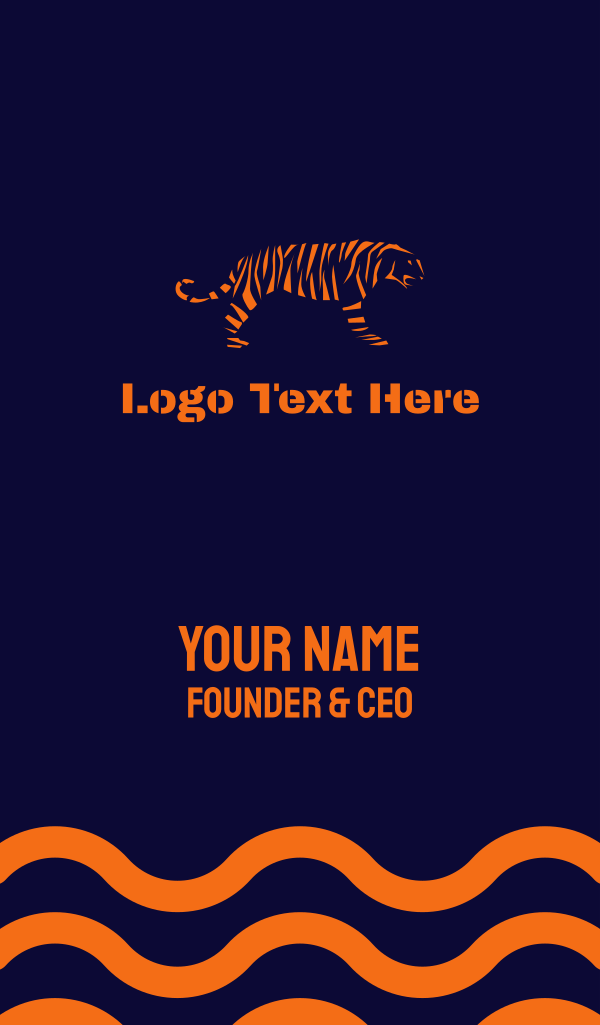 Tiger Stripes Business Card