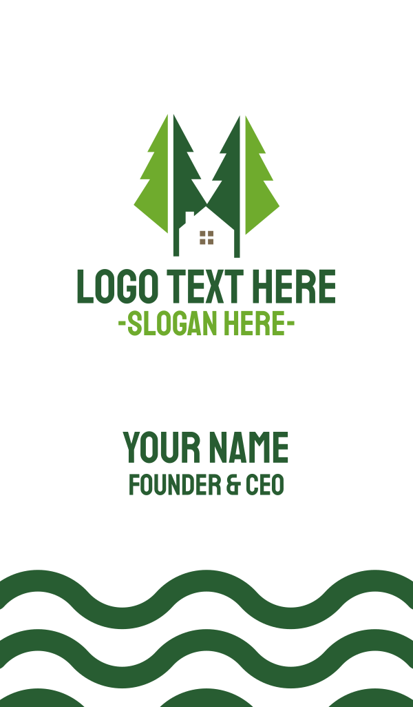 Green Forest Cabin Business Card