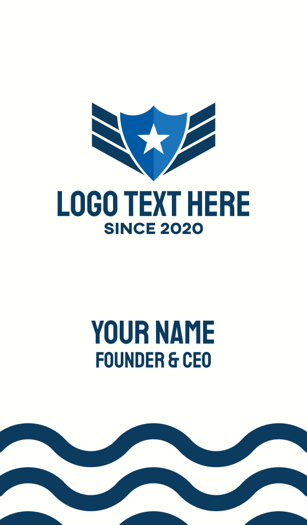 Star Police Badge Business Card