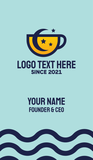 Moon Star Cup Business Card