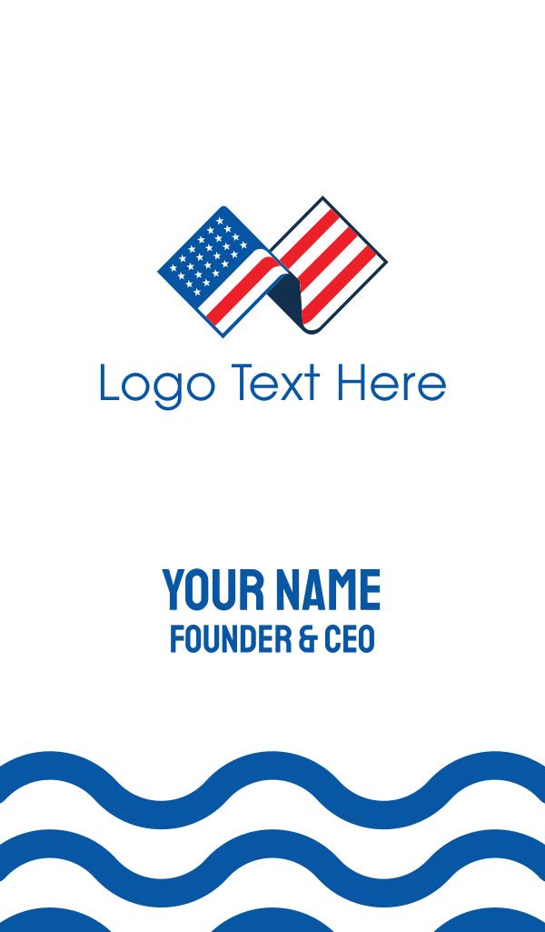 USA American Flag Business Card