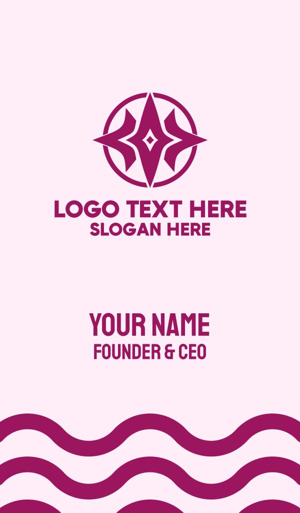 Tri Star Burst Business Card