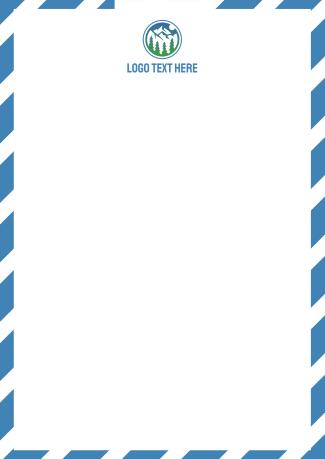 Stripes Letterhead