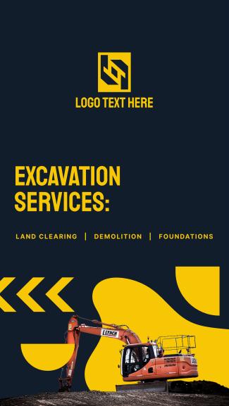 Excavation Services List Facebook story