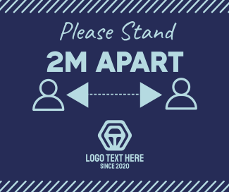Please Stand Apart Facebook post