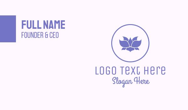 peace of mind - Purple Lotus Business card horizontal design